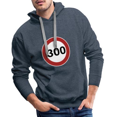 300 km/h - Sweat-shirt à capuche Premium pour hommes