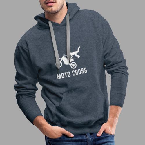 MOTO CROSS - Sweat-shirt à capuche Premium pour hommes