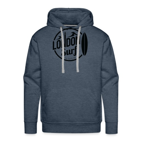 London Surf - Black - Men's Premium Hoodie