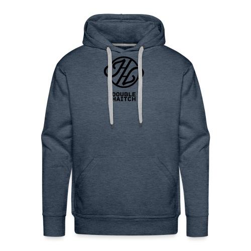 Double Haitch Crew Logo Black - Felpa con cappuccio premium da uomo