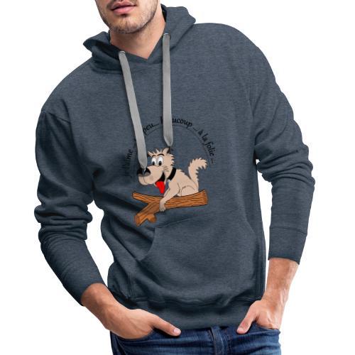 Chien à la folie - Sweat-shirt à capuche Premium pour hommes