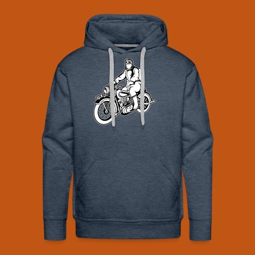 Chopper / Motorrad 04_schwarz weiß - Männer Premium Hoodie