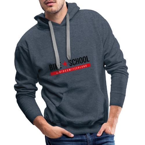 Bike School by rideswitzerland - Sweat-shirt à capuche Premium pour hommes