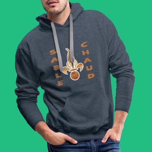 sable chaud4 - Sweat-shirt à capuche Premium pour hommes