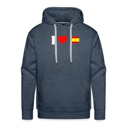 Amo España - Sudadera con capucha premium para hombre