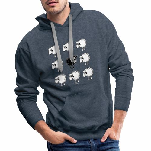 10-45 BLACK SHEEP - musta lammas lahjatuotteet - Miesten premium-huppari