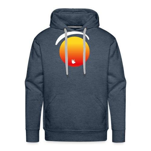 Paragleiter im Sonnenuntergang - Männer Premium Hoodie