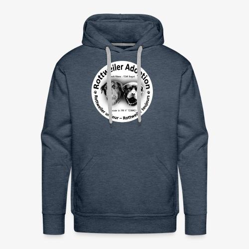 ROTTWEILER ADOPTION LOGO NOIR ET BLANC - Sweat-shirt à capuche Premium pour hommes