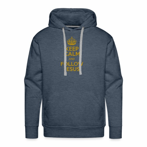 Keep Calm and Follow Jesus christliche mode - Männer Premium Hoodie