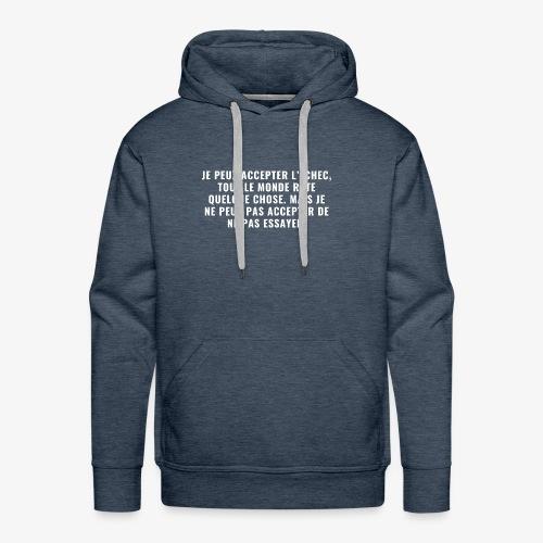 Proverbe n°1 - Sweat-shirt à capuche Premium pour hommes