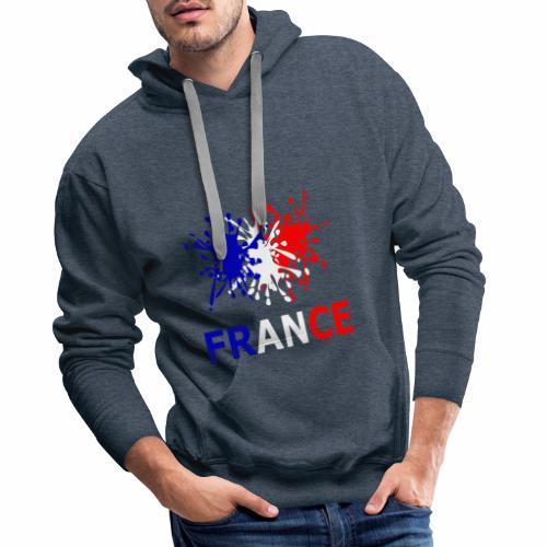 France - red white blue - Men's Premium Hoodie
