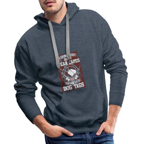 Real Heroes wear Dog Tags - Männer Premium Hoodie
