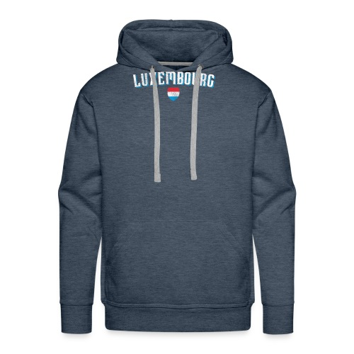 Luxembourg print | Luxembourger Flag graphic - Men's Premium Hoodie