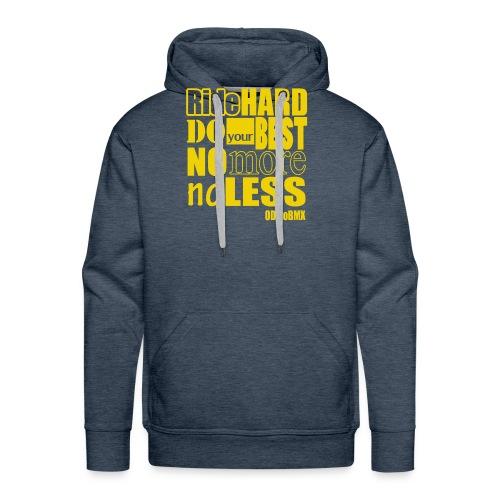ridehard yellow - Men's Premium Hoodie