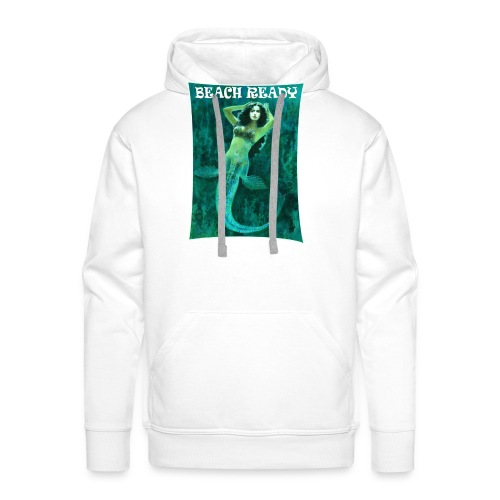 Vintage Pin-up Beach Ready Mermaid - Men's Premium Hoodie