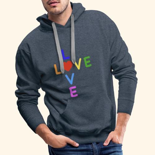 Rainbow Love. Regenbogen Liebe - Männer Premium Hoodie