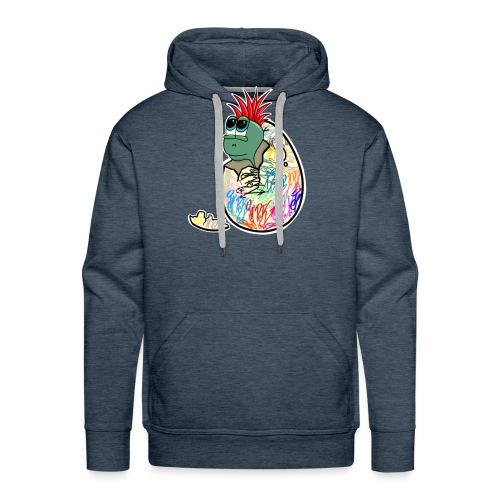 Punk Graffiti Bebe Schildkröte / Baby Dino Turtle - Männer Premium Hoodie