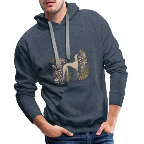 heller Windhund im Herbst - Männer Premium Hoodie