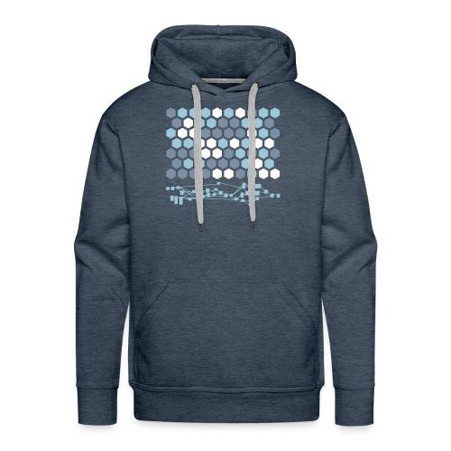 Hexagonal Tiles with Nodetree - Men's Premium Hoodie
