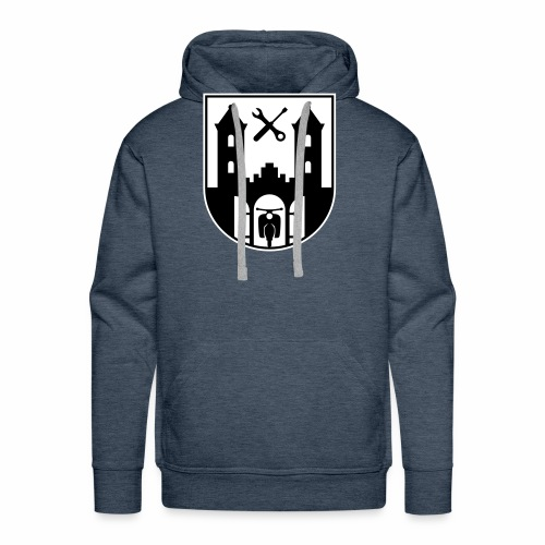 Simson Schwalbe - Suhl Coat of Arms (2c) - Men's Premium Hoodie