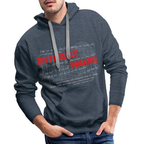 Difference Maker hell - Männer Premium Hoodie