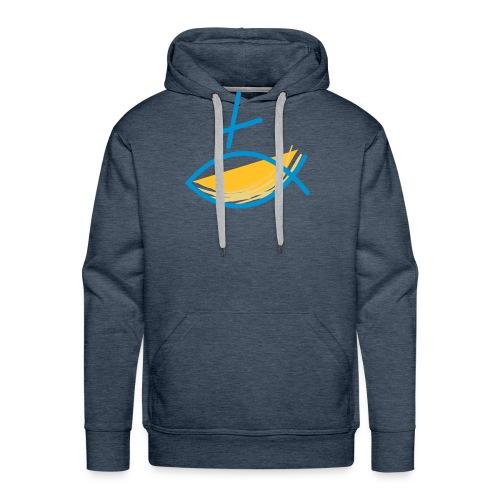 Altkatholischer Logo Fisch Blau/Gelb - Männer Premium Hoodie