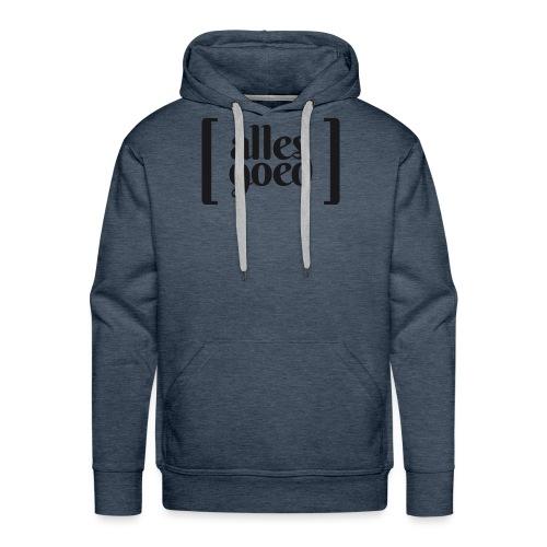Alles Goed logo zwart - Mannen Premium hoodie