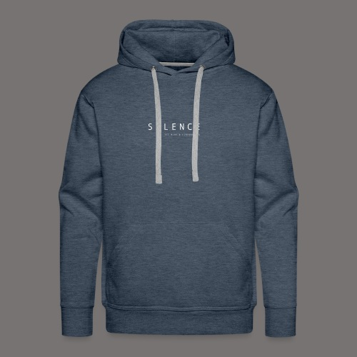 Silence text and corp neg 01 - Men's Premium Hoodie