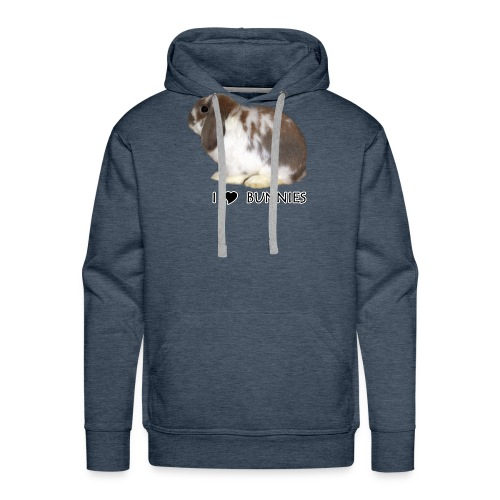 I Love Bunnies Luppis - Miesten premium-huppari