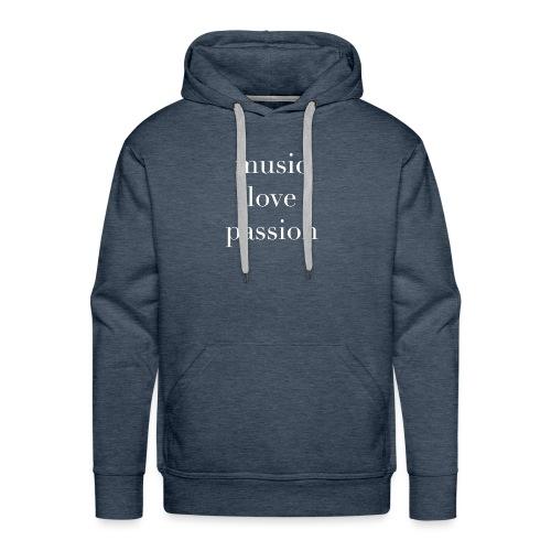 music love passion weiss - Männer Premium Hoodie
