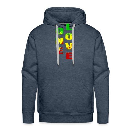 One Love Rasta Colors Peace Design - Sweat-shirt à capuche Premium pour hommes
