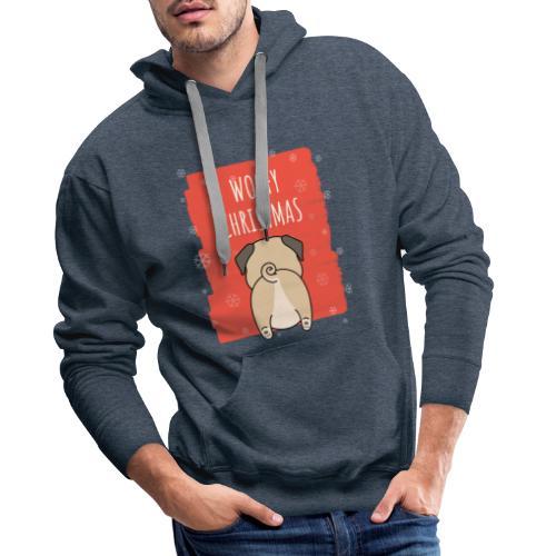 Grappige Kerstmis hond Woofy Christmas origineel - Mannen Premium hoodie
