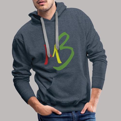 MB13 Logo rasta1 - Men's Premium Hoodie