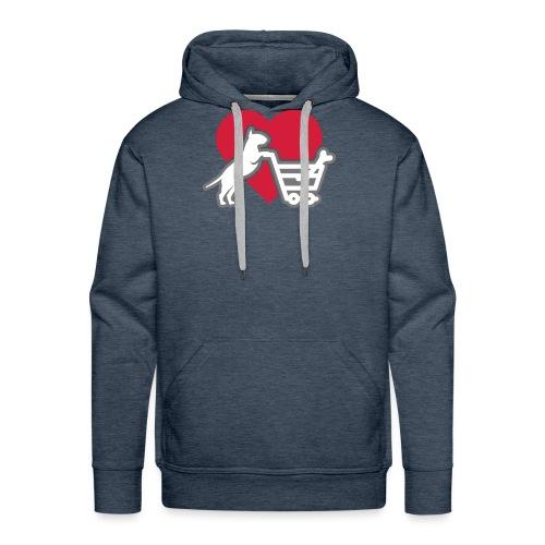 Shopping Bullterrier LOVE 3c - Männer Premium Hoodie