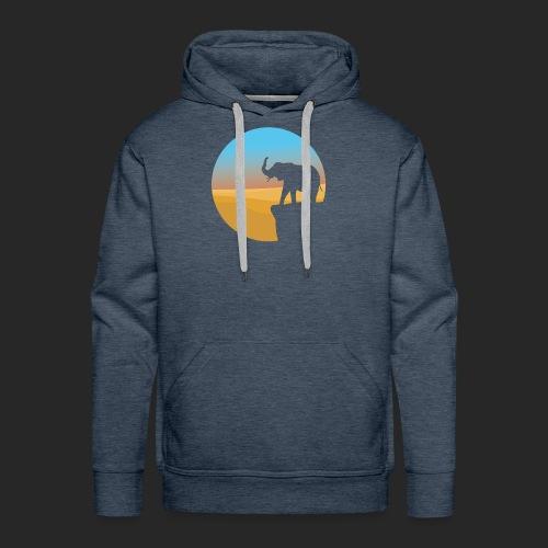Sunset Elephant - Men's Premium Hoodie
