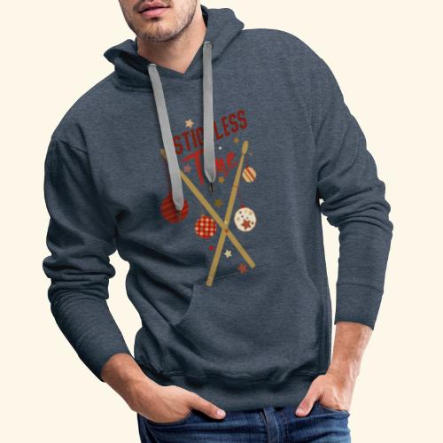 Stickless Time Drums - Männer Premium Hoodie