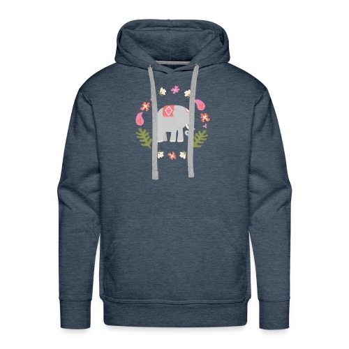 Indian elephant - Felpa con cappuccio premium da uomo