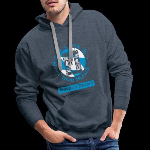 I love Munich - Minga i mog di. München T-Shirt - Männer Premium Hoodie