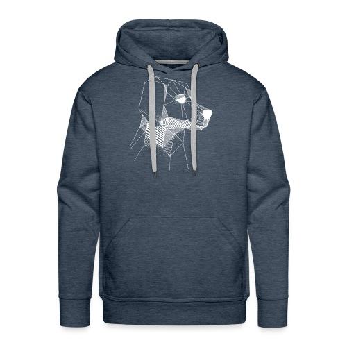 Golden Retriever Geometrisch Wit - Mannen Premium hoodie