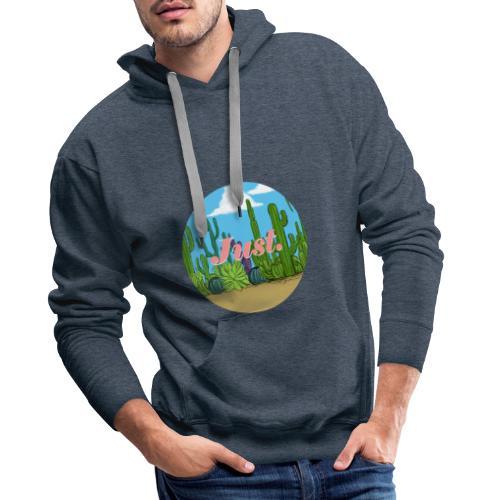 Just. Cactus - Sweat-shirt à capuche Premium pour hommes