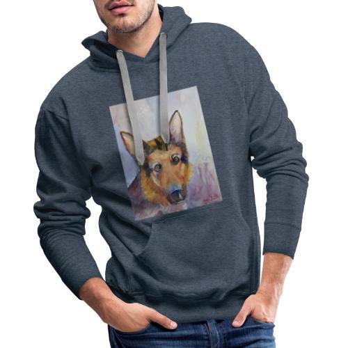 german shepherd wc - Herre Premium hættetrøje
