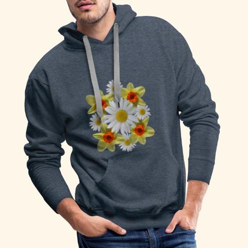 Narzissen Margeriten Osterglocken Blumen Blüten - Männer Premium Hoodie