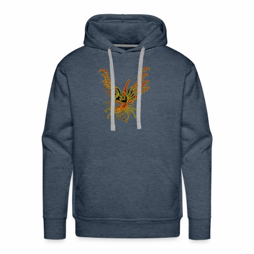 TribalBird redYellow - Sweat-shirt à capuche Premium pour hommes