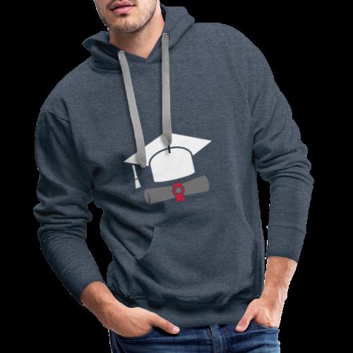 Doktorhut mit Zeugnis - Geschenk zum Abschluss - Männer Premium Hoodie