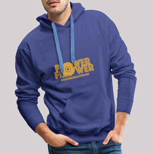 logo def PF 1colore giallo - Felpa con cappuccio premium da uomo