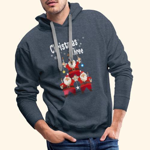 Christmas Three Weihnacht Baum drei - Männer Premium Hoodie