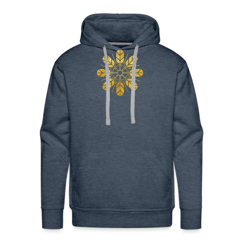 Inoue clan kamon in gold - Men's Premium Hoodie