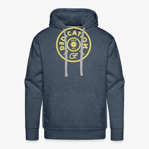 DEDICATIONGOLD png - Men's Premium Hoodie