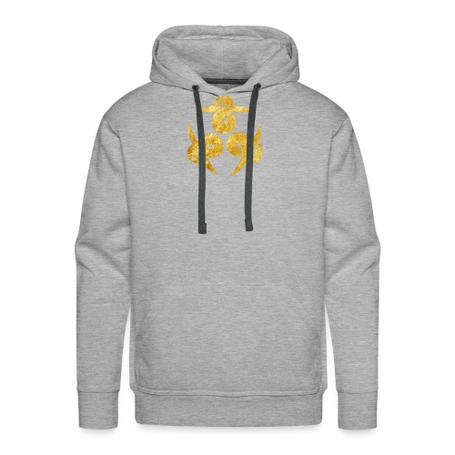 Three Geese Japanese Kamon in gold - Men's Premium Hoodie