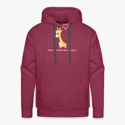 Giraffe Me Crazy - Herre Premium hættetrøje
